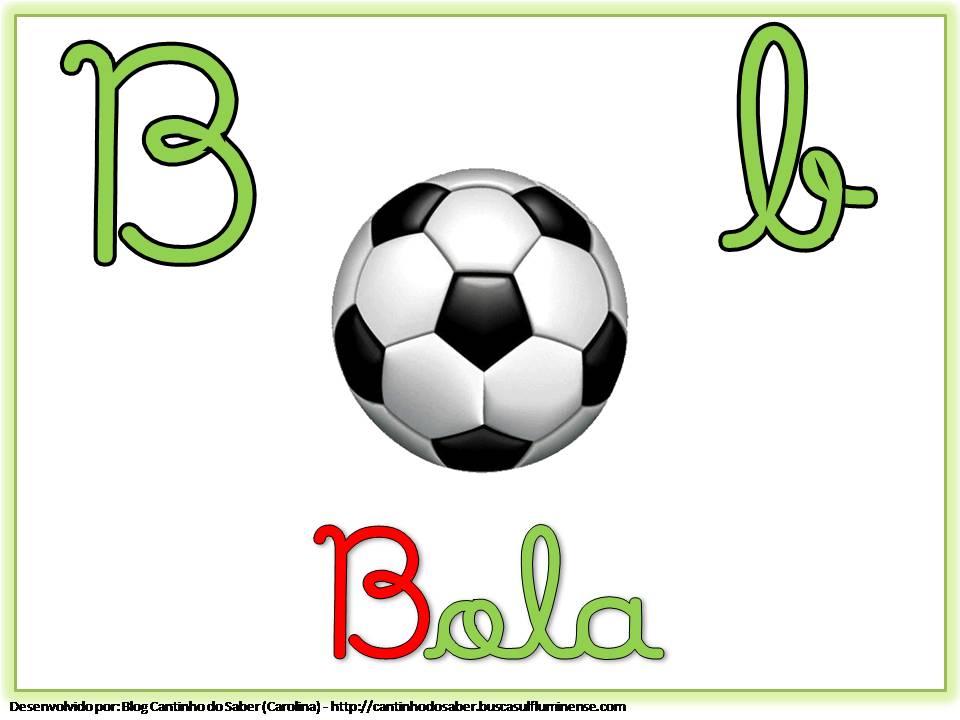 Alfabeto Colorido com Letra Cursiva para Imprimir B