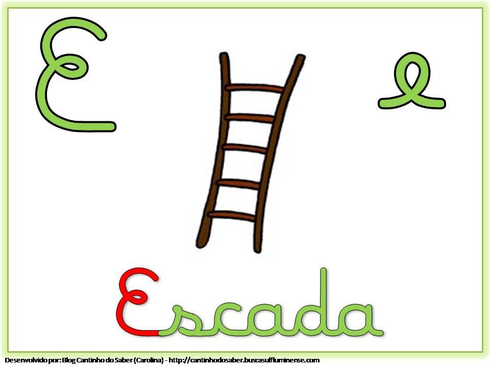Alfabeto Colorido com Letra Cursiva para Imprimir E