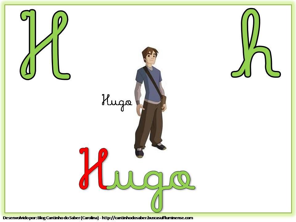 Alfabeto Colorido com Letra Cursiva para Imprimir H