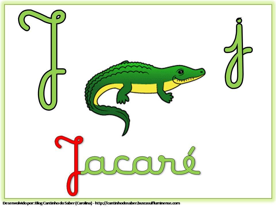 Alfabeto Colorido com Letra Cursiva para Imprimir J