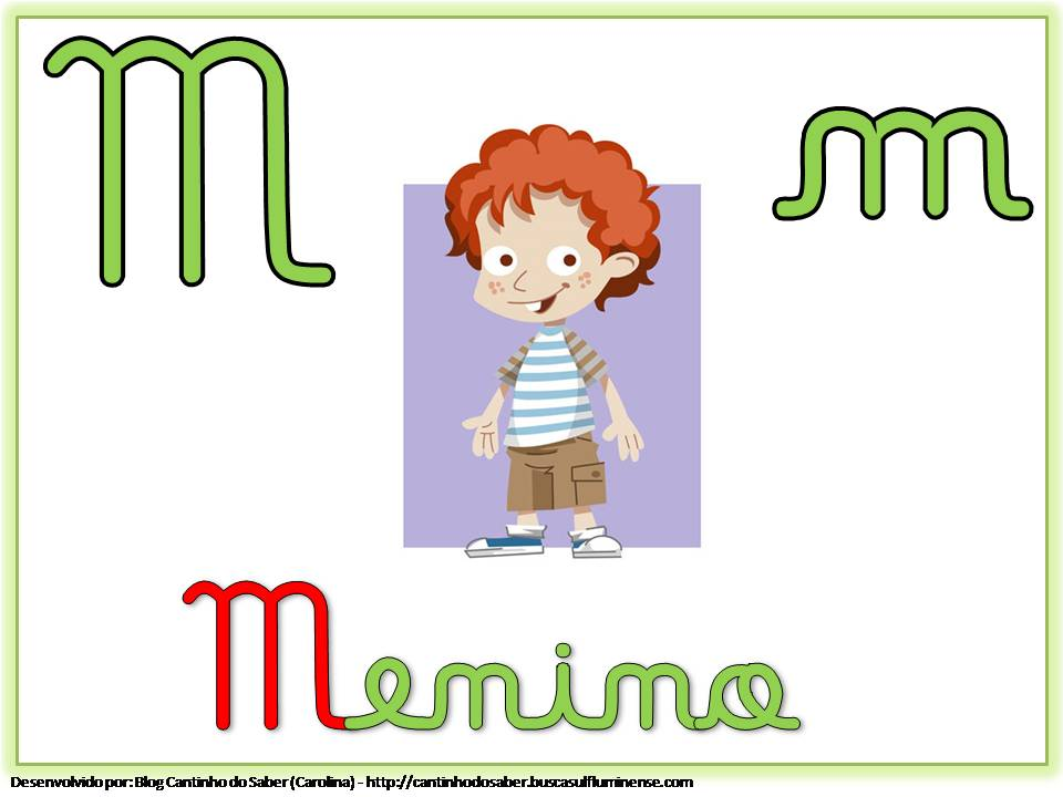 Alfabeto com Letra Cursiva para Imprimir M