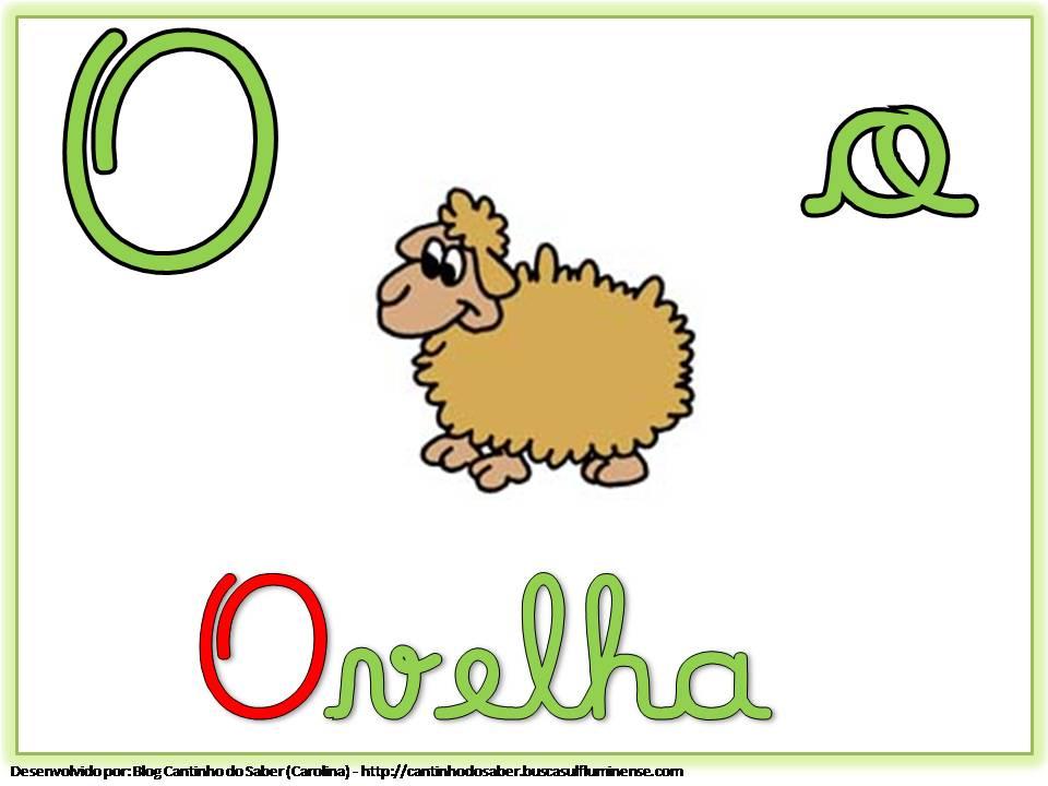 Alfabeto com Letra Cursiva para Imprimir O