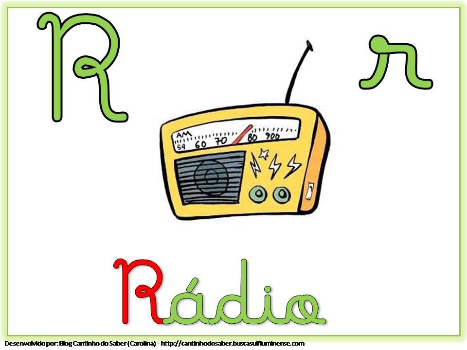 Alfabeto Colorido com Letra Cursiva para Imprimir R
