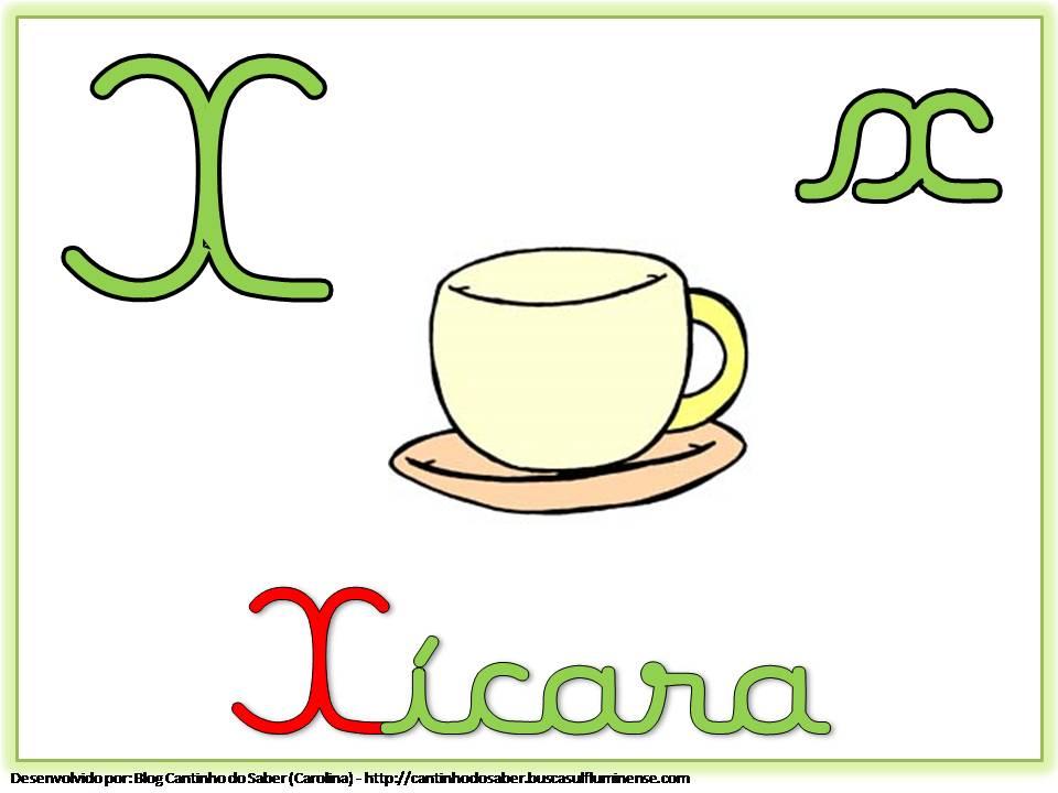 Alfabeto com Letra Cursiva para Imprimir X