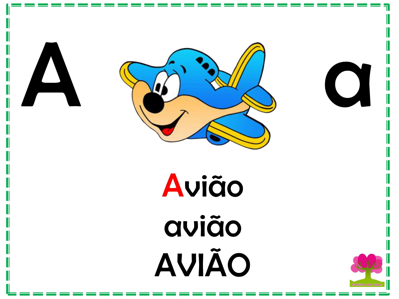 Alfabeto Colorido em Letra Bastão para Imprimir A