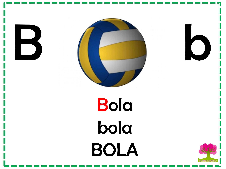 Alfabeto Colorido em Letra Bastão para Imprimir B