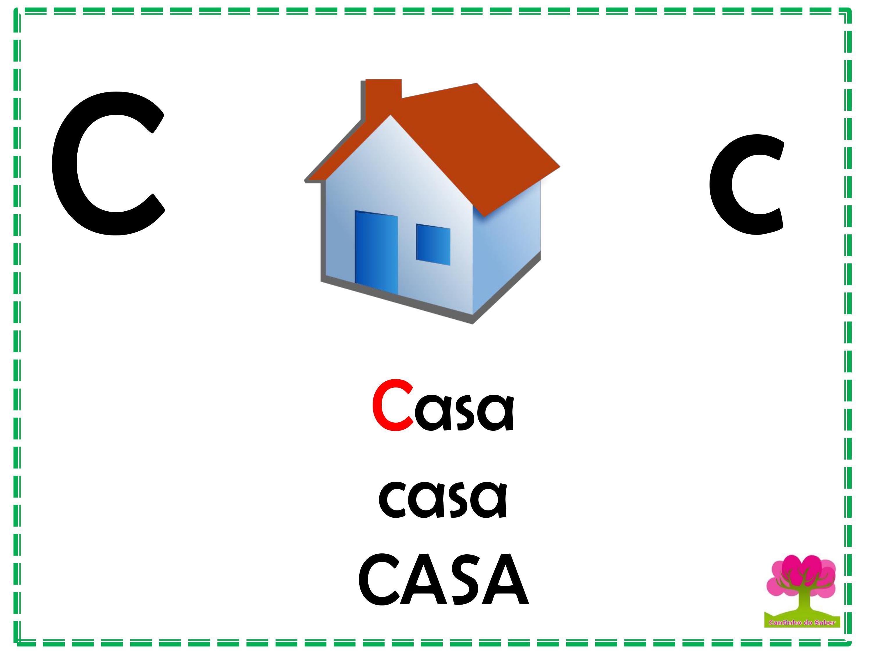 Alfabeto Colorido em Letra Bastão para Imprimir C