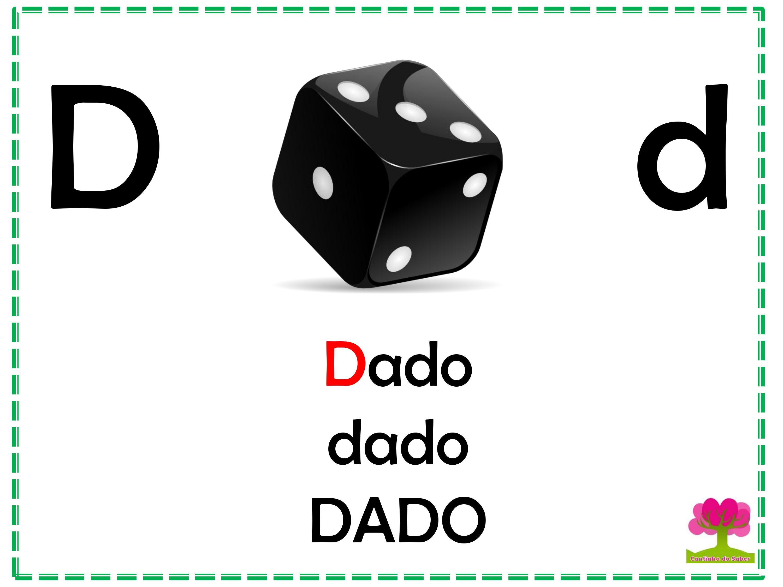 Alfabeto Colorido em Letra Bastão para Imprimir D