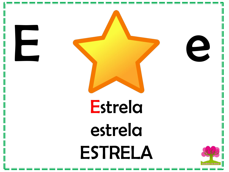 Alfabeto Colorido em Letra Bastão para Imprimir E
