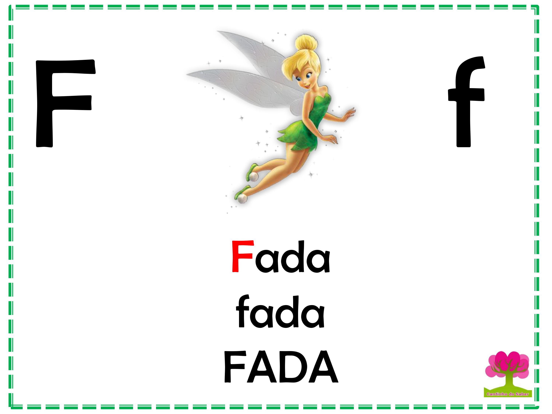 Alfabeto Colorido em Letra Bastão para Imprimir F