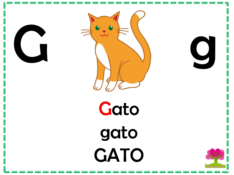 Alfabeto Colorido em Letra Bastão para Imprimir G