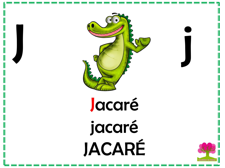 Alfabeto Colorido em Letra Bastão para Imprimir J