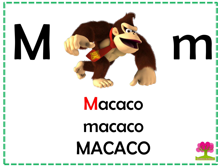 Alfabeto Colorido em Letra Bastão para Imprimir M