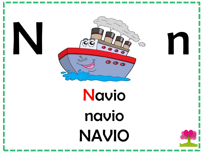 Alfabeto Colorido em Letra Bastão para Imprimir N