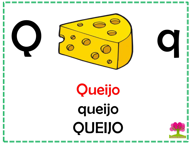 Alfabeto em Letra Bastão para Imprimir Q
