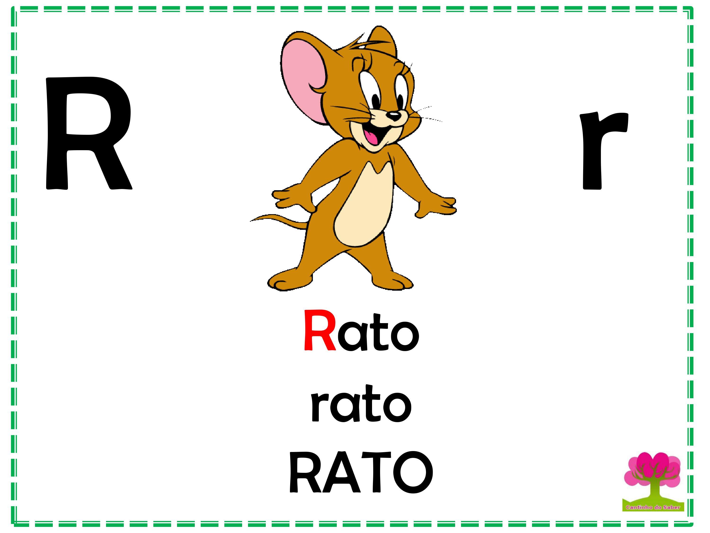 Alfabeto em Letra Bastão para Imprimir R