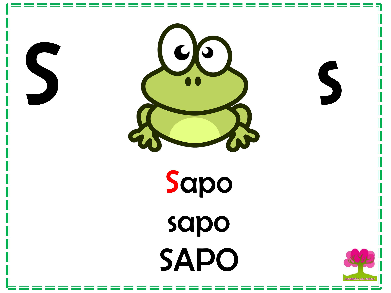 Alfabeto em Letra Bastão para Imprimir S