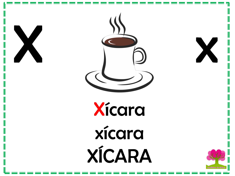 Alfabeto em Letra Bastão para Imprimir X