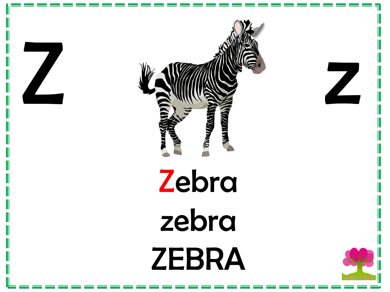 Alfabeto em Letra Bastão para Imprimir Z