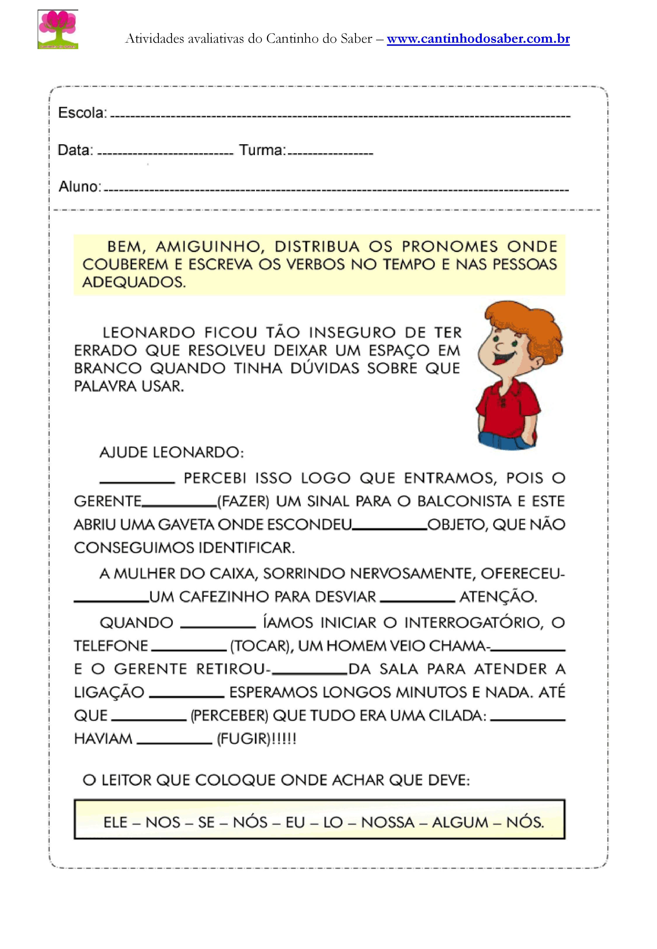 Atividades de portugues para o quarto ano (7)