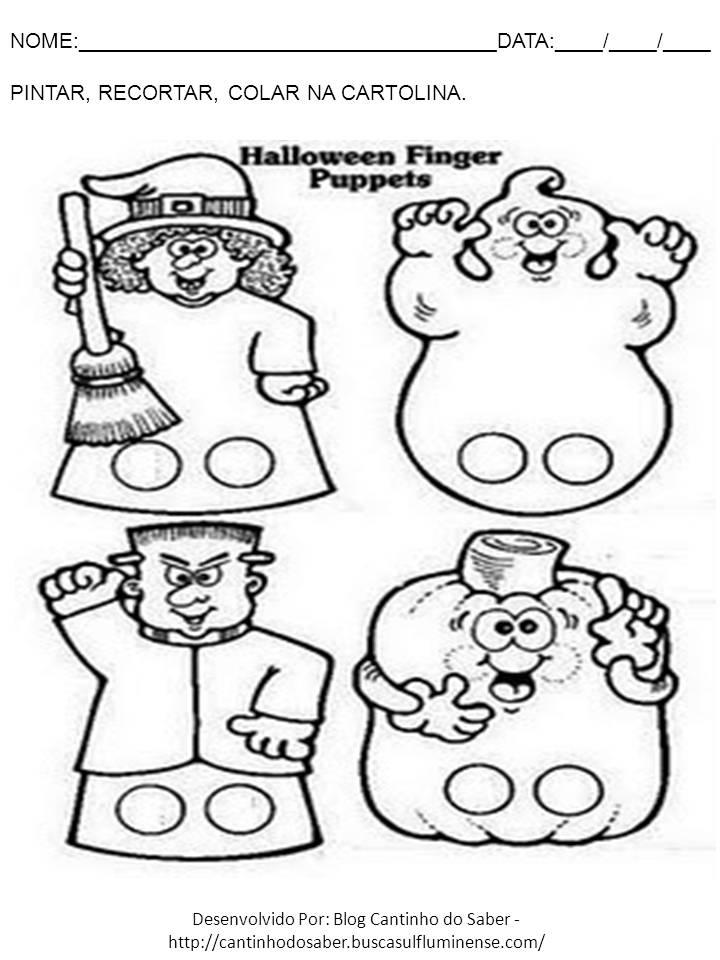 Atividade para o dia das bruxas halloween
