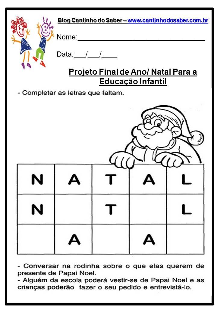 Dia Do Natal Varias Atividades Para A Educacao Infantil