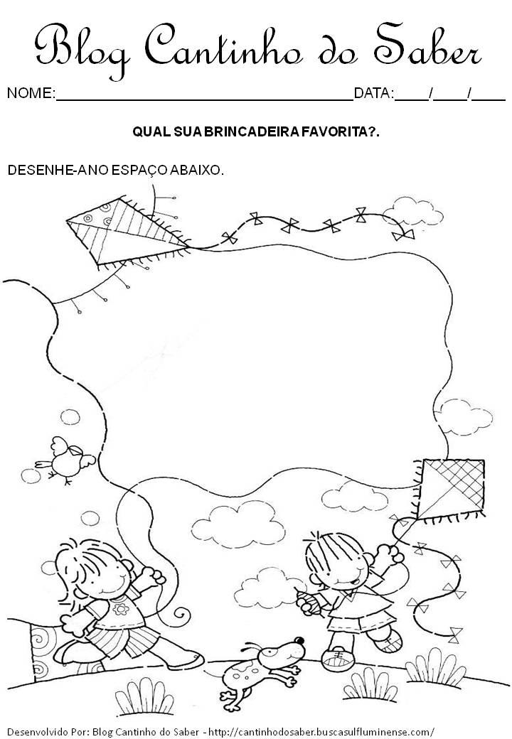 Well-known Dia das Crianças várias atividades para a Educação Infantil PH61