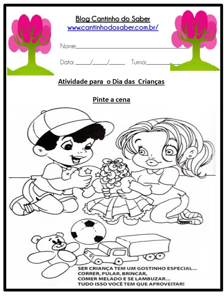 Atividades para o dia das crianças