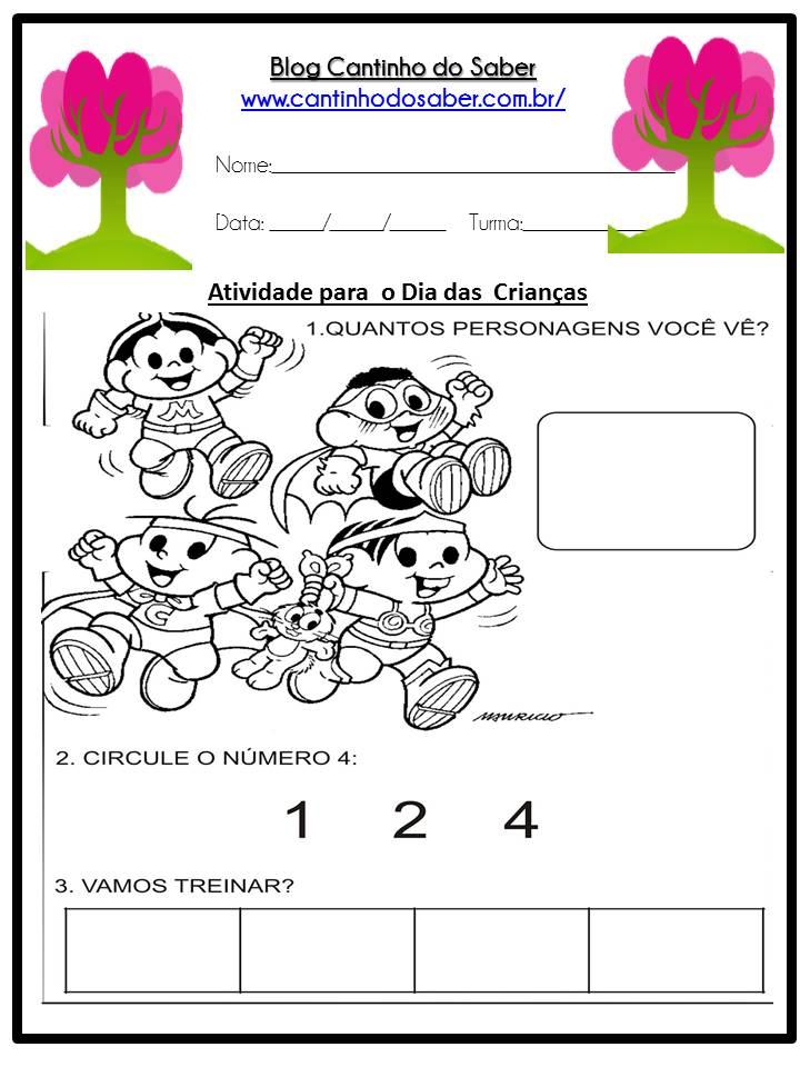 Muito Arquivos imprimir atividades do dia das crianças - Atividades para  PZ21