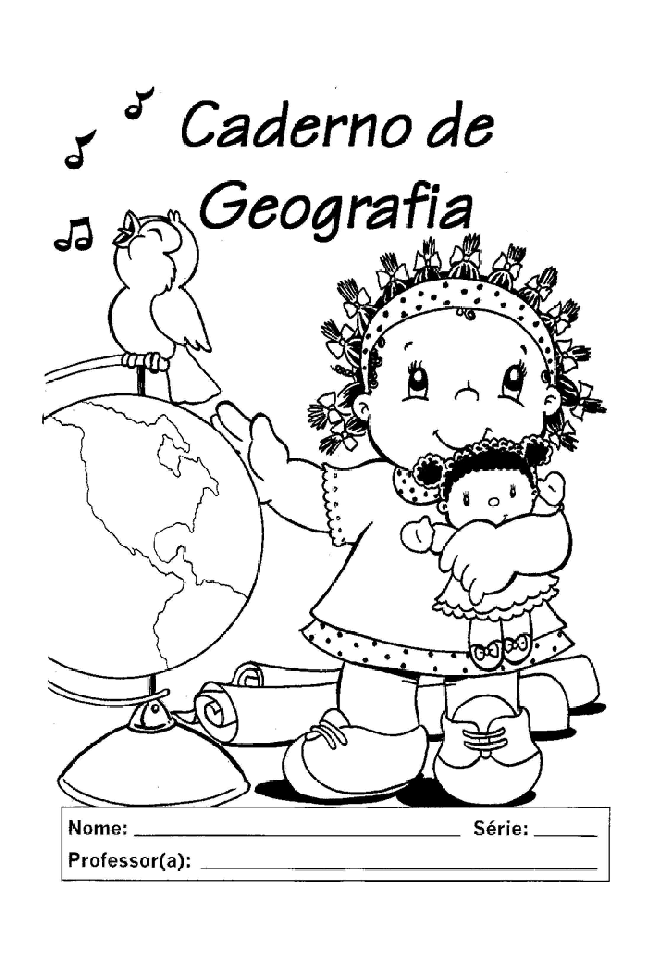 capa de caderno de geografia