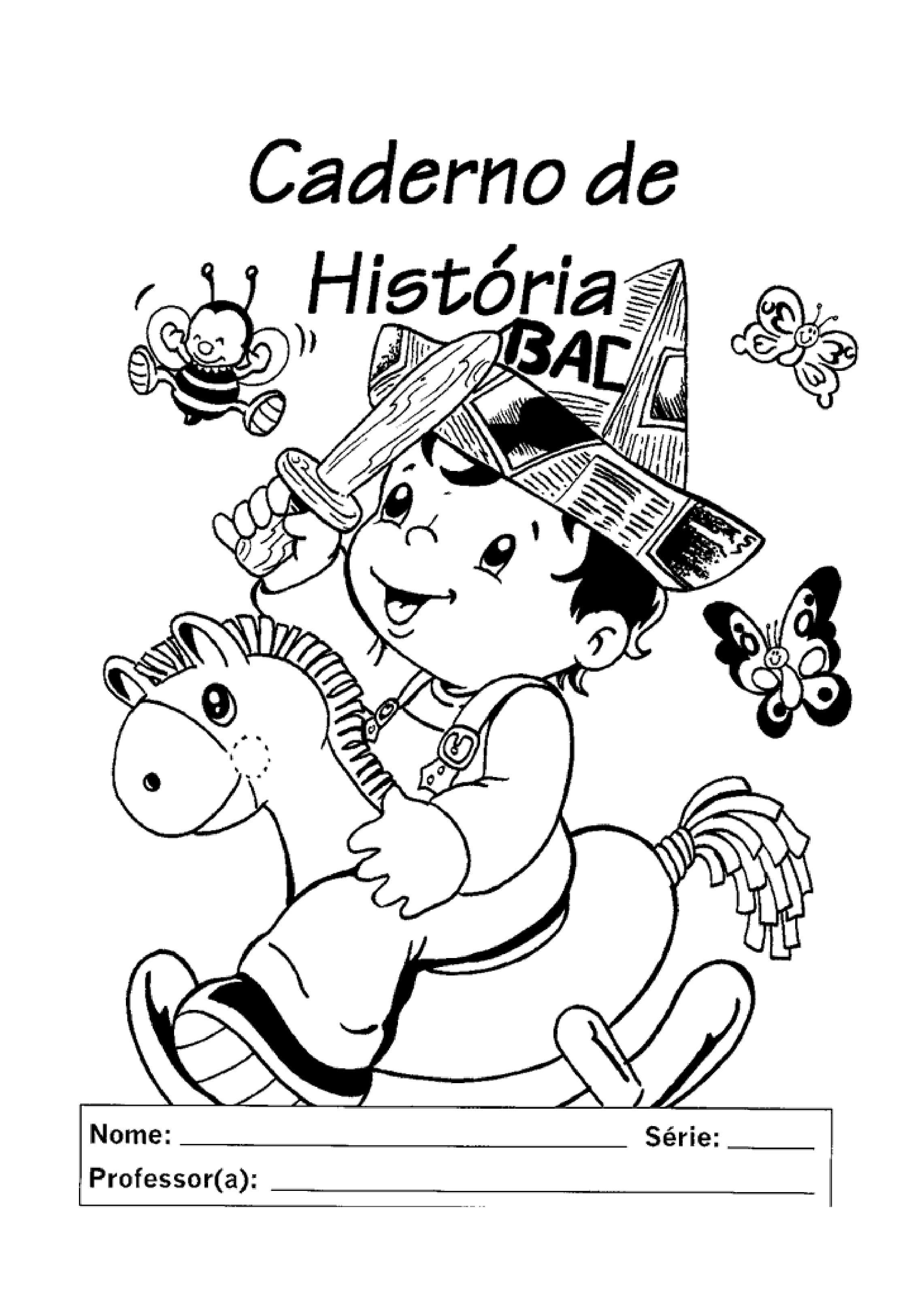 capa de caderno de história