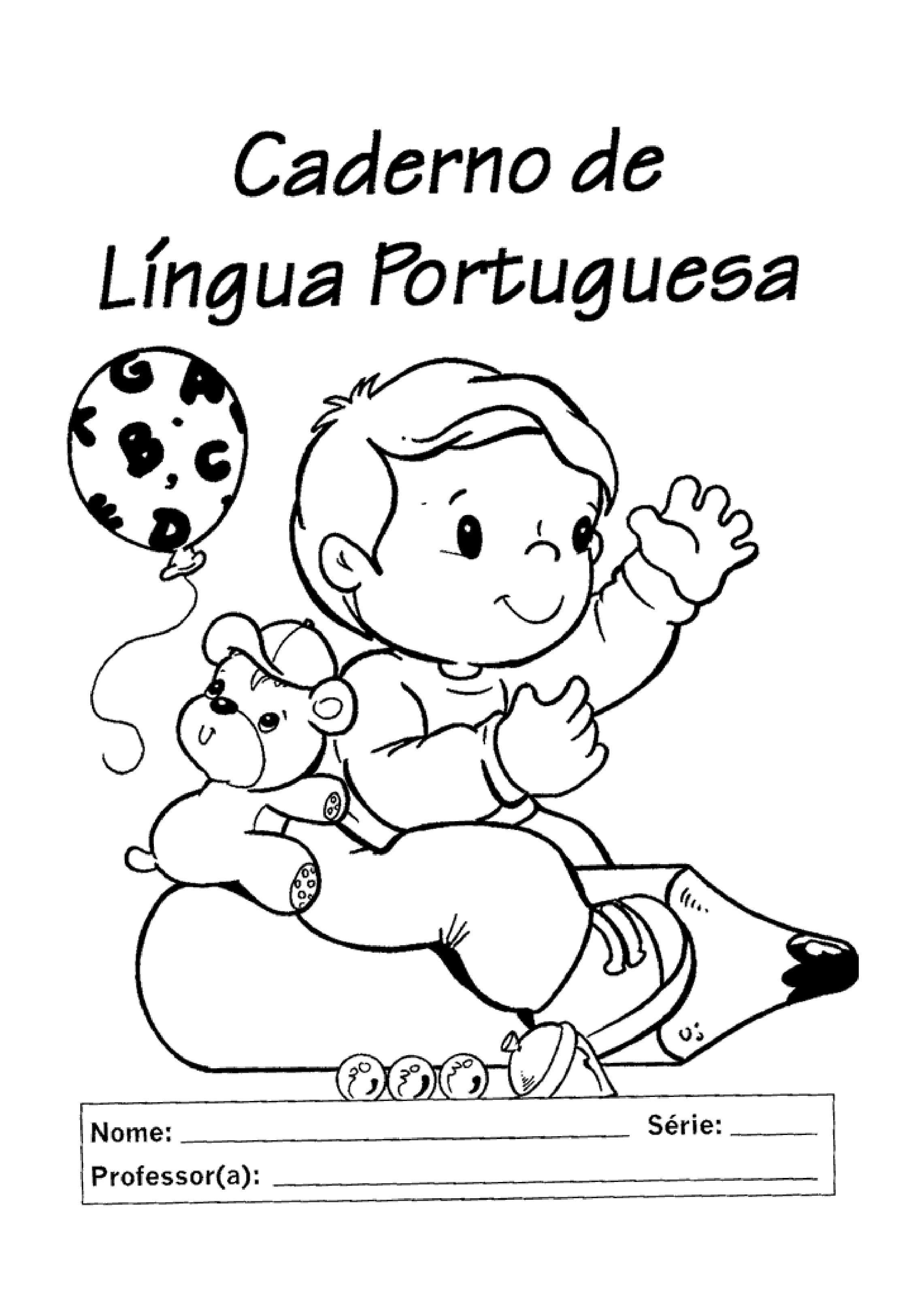 Capas De Caderno Em Preto E Branco Para A Educacao Infantil