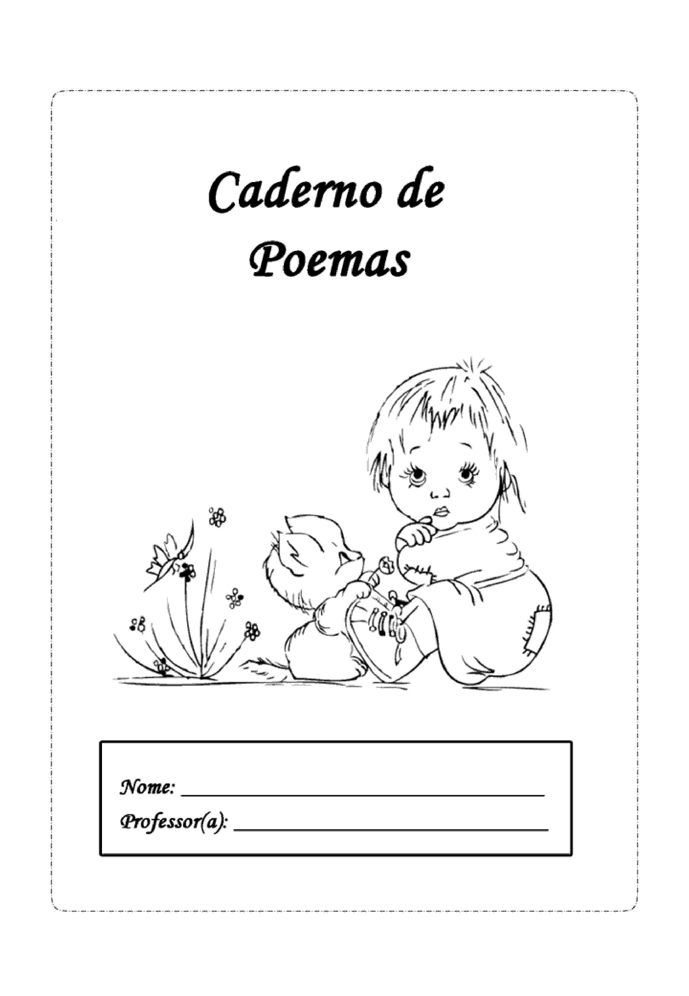 capa de caderno de poemas