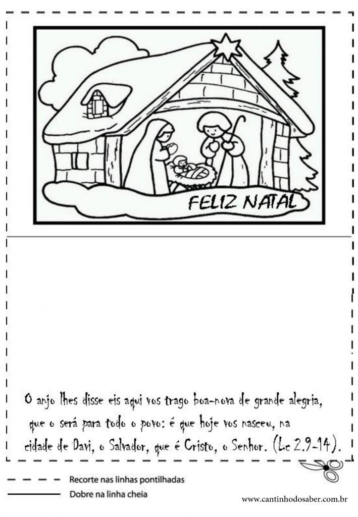 Cartões natalino para imprimir