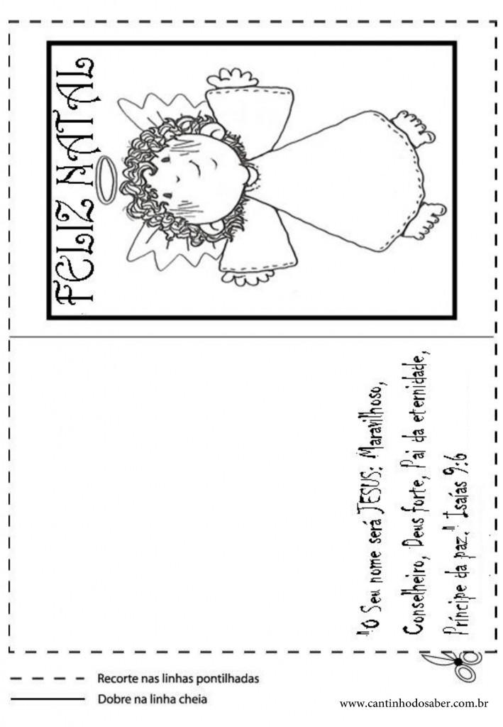 cartões de natal para imprimir para educação infantil