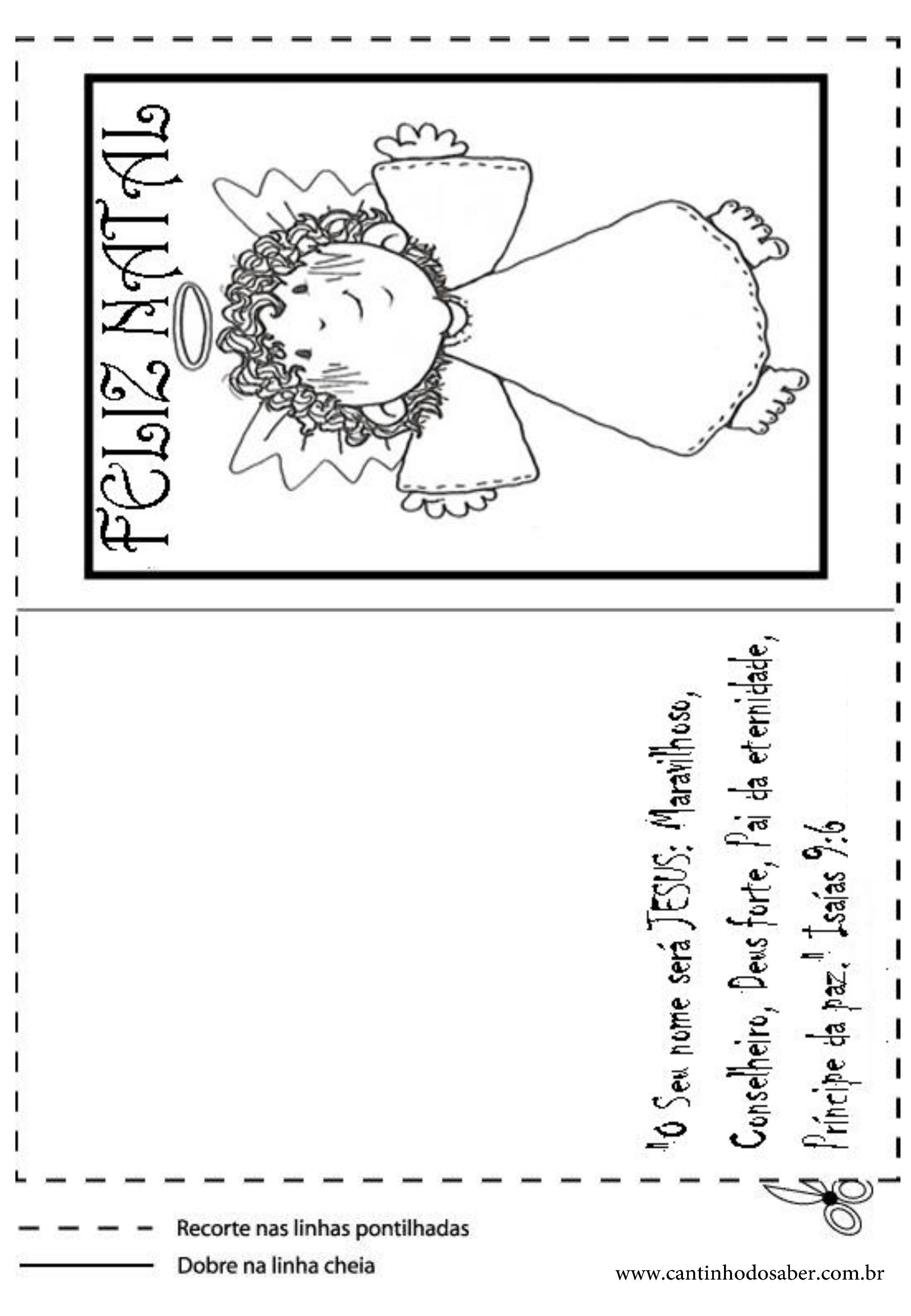 Fabuloso Cartões de natal para imprimir e colorir LS85