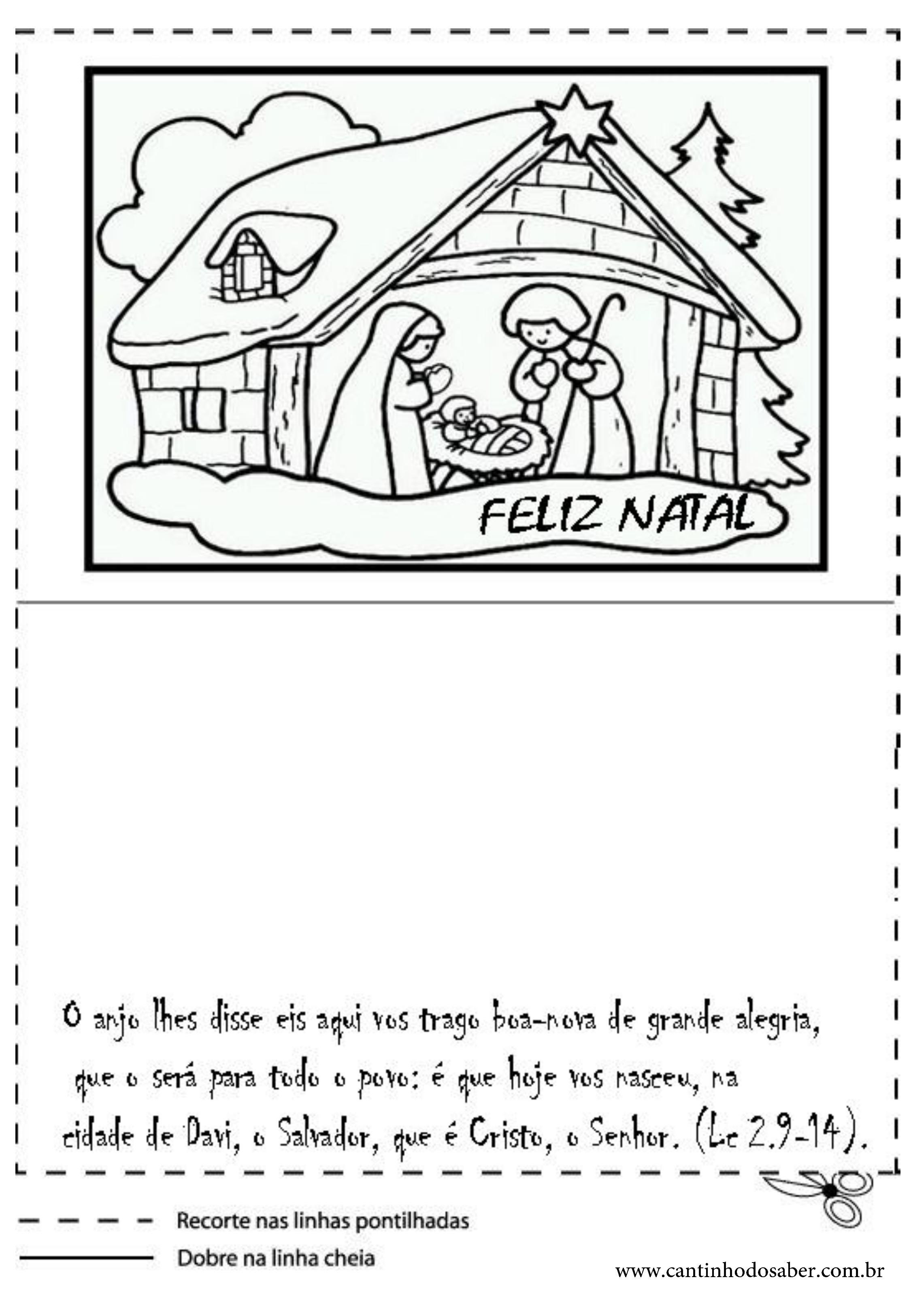 Famosos Cartões de natal para imprimir e colorir OV08