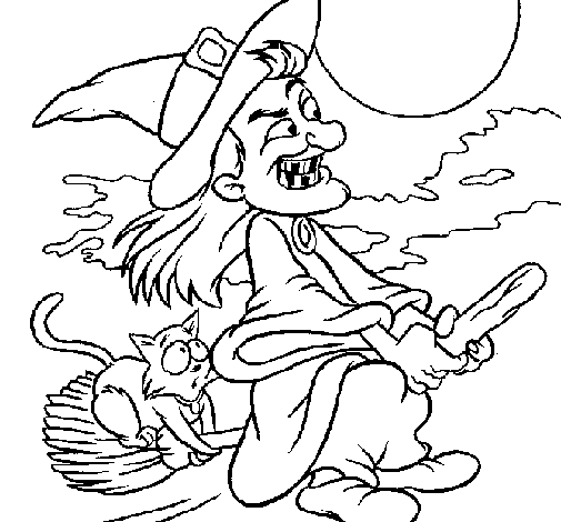 Desenho para o dia das bruxas