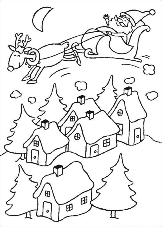 Desenho para colorir do natal