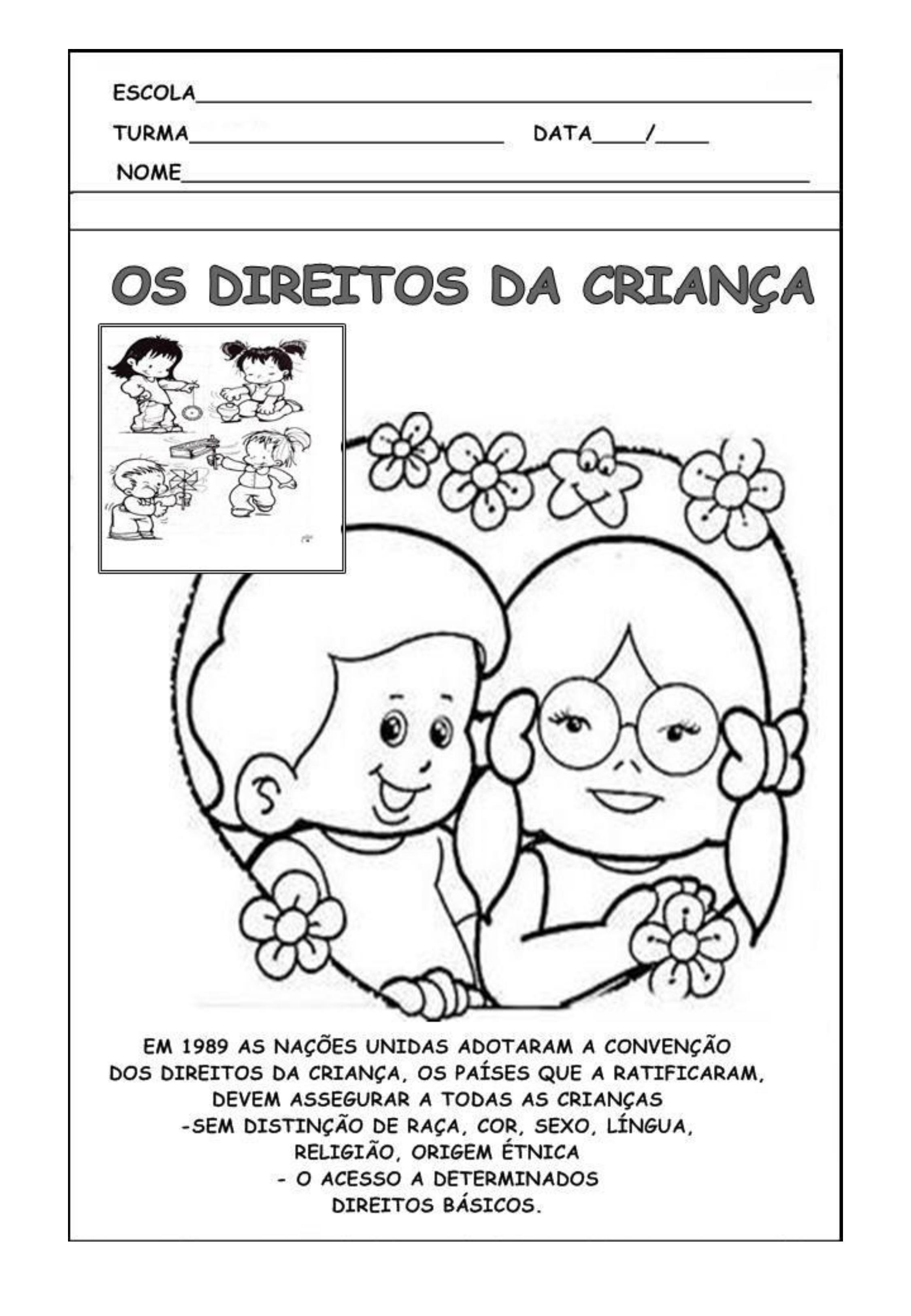 Direito das Crianças - atividades para o dia da criança
