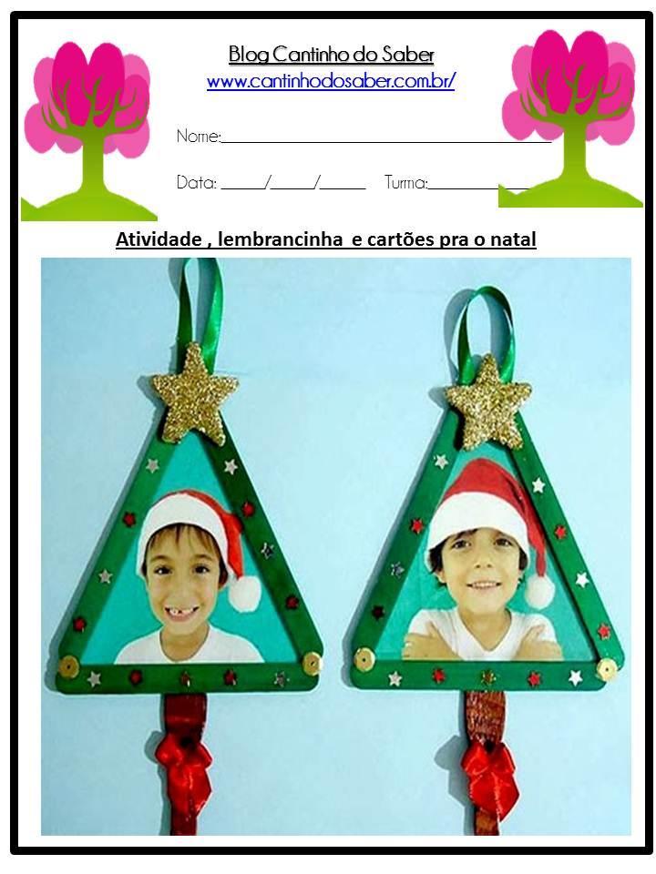 Fabuloso Dia do Natal várias lembrancinhas para a Educação Infantil IL21
