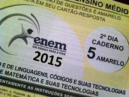 Prova do ENEM 2015