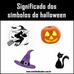 Símbolos do dia das bruxas e halloween