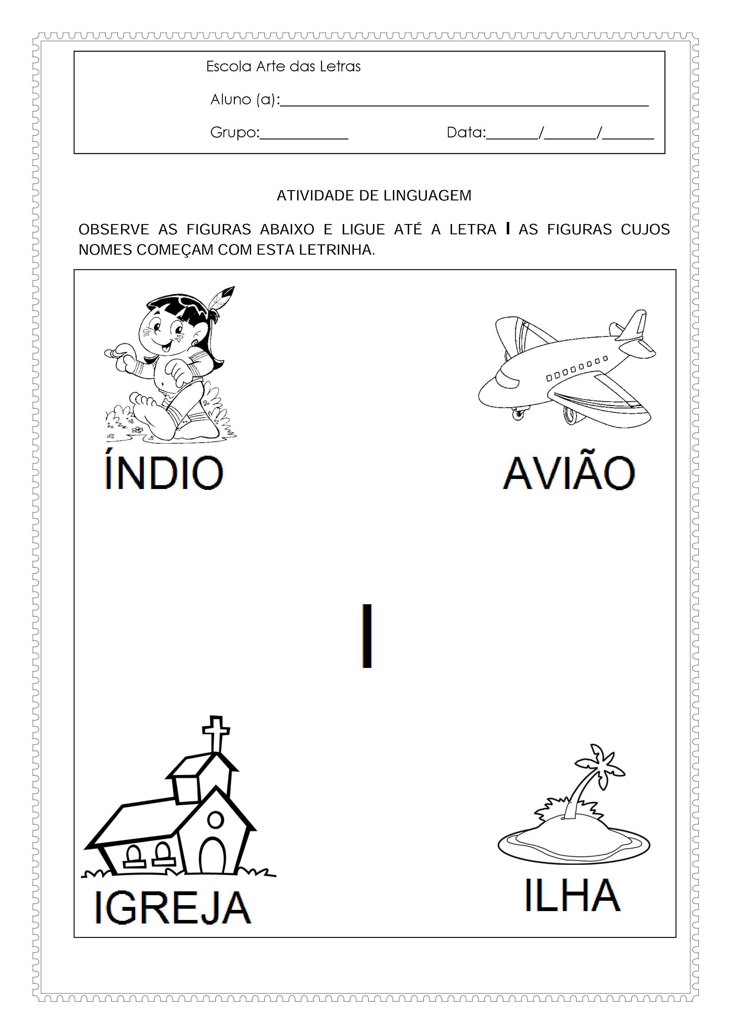 Well-known Atividades para o maternal 2 de matemática e linguagem DC06