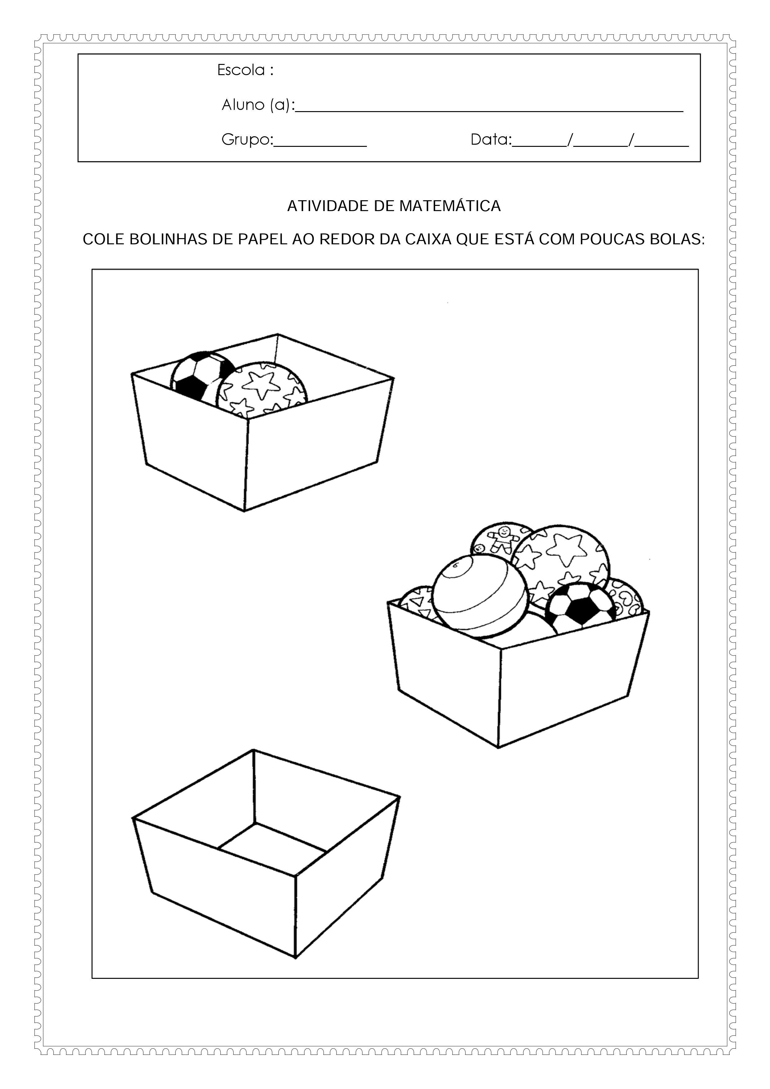 Atividades Para O Maternal 2 De Matematica E Linguagem