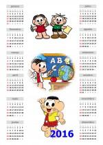 Calendário 2016 Turma da Mônica Anual