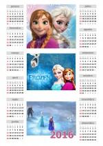Calendário 2016 Frozen Anual