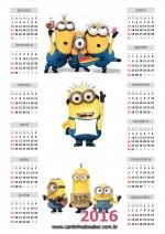 Calendário 2016 Minions Anual