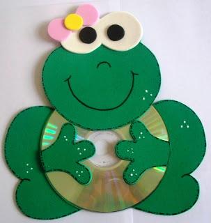 Lembrancinha com CDs reciclados para o natal