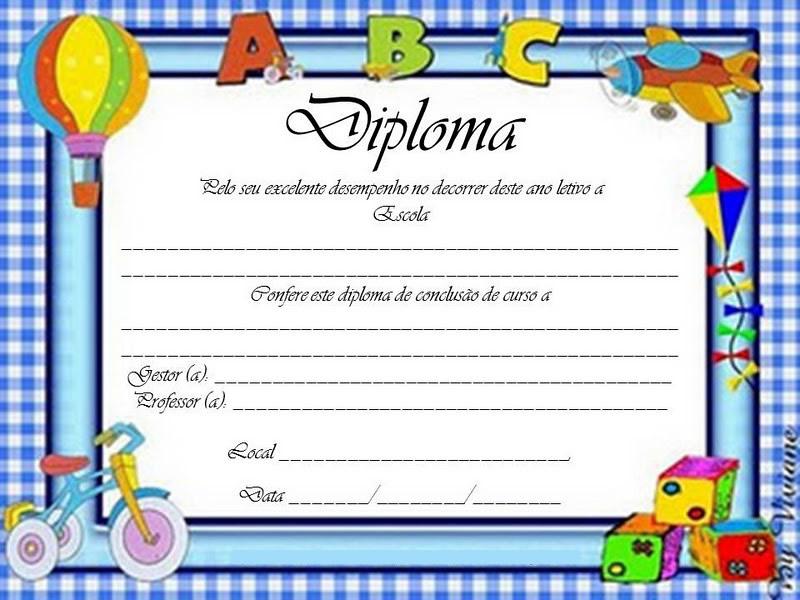 modelo de certificado infantil